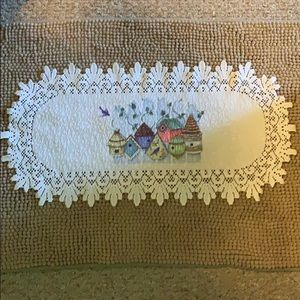 Estate Item - White Woven Lace Table Accessory